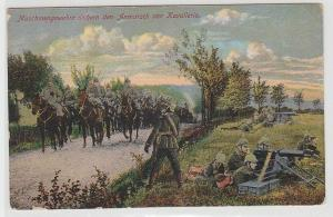 68866 Feldpost Ak Maschinengewehre sichern den Anmarsch von Kavallerie 1915