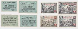 4 Banknoten Notgeld Stadt Itzehoe 2.August 1920 (120529)