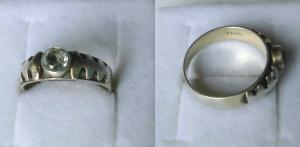 Moderner Damenring 925er Silber mit weißem Stein (119387)