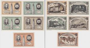 5 Banknoten Notgeld Stadtsparkasse Carlshafen o.D. (1922) (123328)