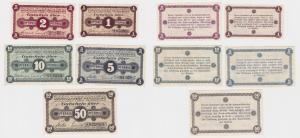 5 Banknoten Notgeld Ammoniakwerk Merseburg ohne Datum (120546)