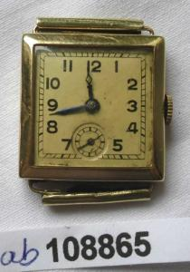 Dekorativer Schweizer Armbanduhr 585er Gold Marke Grana Watch (108865)