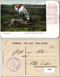 72793 Ak Deutsch-Süd-West-Afrika Kriegsbilder um 1907