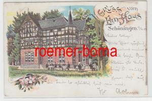 83741 Ak Lithografie Gruss vom Elm-Haus Schöningen 1903