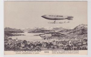 88153 AK Erinnerung an die Eröffnung d. 1. Schweizer Luftschiffstation in Luzern