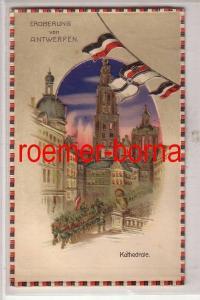43486 Halt gegen das Licht Ak Eroberung von Antwerpen Kathedrale 1. Weltkrieg