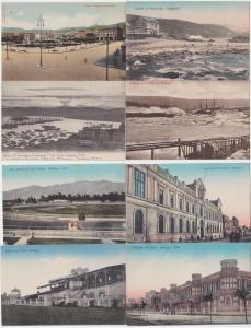 83379/8 Ak Santiago Chile Ortsansichten 1914