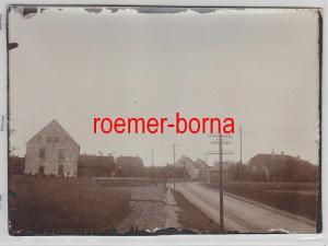 76696 Original Foto Röderau Strassenansicht um 1930