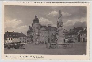 67950 Ak Schluckenau Sudetenland Marktplatz mit Denkmal 1941