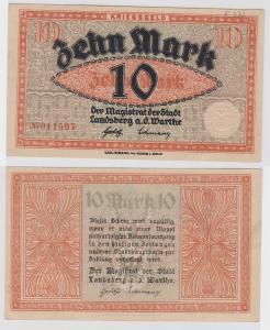 10 Mark Banknoten Notgeld Stadt Landsberg a.d.Warthe ohne Datum (121079)