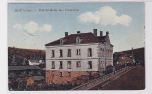 90782 AK Dreibrunnen - Mädchenheim der Glasfabrik 1917