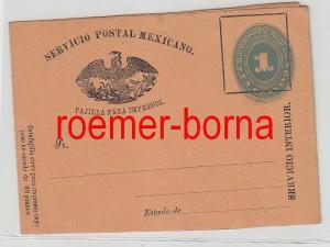 50451 seltener Ganzsachen Brief Mexiko 1 Centavo um 1900