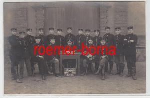 72737 Feldpost Foto Ak Riesa Elbe Soldaten Gruppenbild 1916