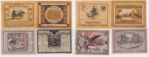 4 Banknoten Notgeld Gemeinde Stedesand 10.10.1920 (122462)