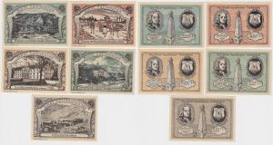 5 Banknoten Notgeld Stadtsparkasse Carlshafen o.D. (1922) (121206)
