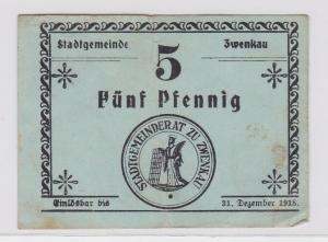 5 Pfennig Banknote Stadtgemeinde Zwenkau 31.12.1918 (121571)