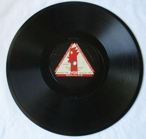 124958 VOX Schellackplatte Torgauer & Hohenfriedberger Marsch vom VOX-Orchester