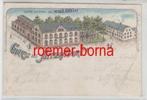 77531 Ak Lithografie Gruss aus Hitzendorf Gasthof Aitzendorf 1899