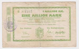 1 Million Mark Banknote Stadtgirokasse Hohenstein Ernstthal 13.08.1923 (122263)