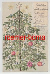 83617 geprägte Ak Fröhliche Weihnachten: Geschmückter Tannenbaum 1903
