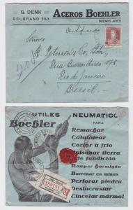 82672 seltener Luftpostbrief Argentinien Buenos Aires 1929