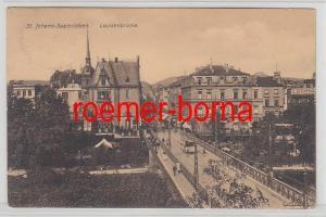 72476 Ak St.Johann Saarbrücken Louisenbrücke 1910