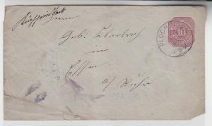 72107 seltener Ganzsachenbrief Württemberg von Plochingen nach Essen 1883