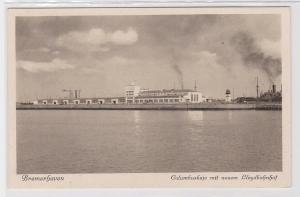 90024 Ak Bremerhaven Columbuskaje mit neuem Lloydbahnhof um 1930