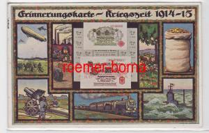 64183 Feldpost Ak Erinnerungskarte Kriegszeit 1914-15 Zeppelin, U-Boot usw.