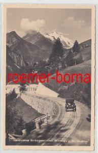 15253 Ak Großglockner Hochalpenstraße Südrampe gegen Groß Glockner um 1940