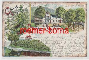 83520 Ak Lithografie Gruss vom Zollhaus Bieberstein 1900