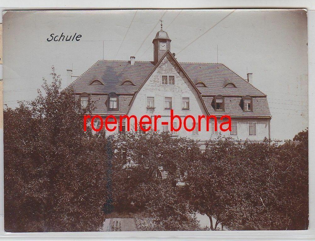 76701 Original Foto Glaubitz Schule um 1910 0