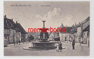 85339 Feldpost Ak Saar Buckenheim Elsass Brunnenplatz 1918