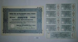 1000 RM Aktie Meißner Ofen- und Porzellanfabrik (vorm.C.Teichert) 1934 (131897)