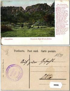48006 Feldpost Ak Deutsch Süd West Afrika Kriegsbilder um 1907