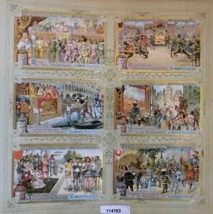 Liebigbilder Serie 528, Festlichkeiten im Mittelalter, komplett 1902 (L114163)