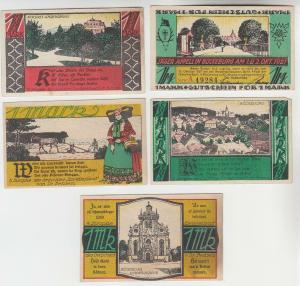 5 Banknoten Notgeld Jäger Appell in Bückeburg 1921 (113136)