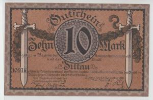 10 Mark Banknote Amtshauptmannschaft Zittau 1918  (104163)