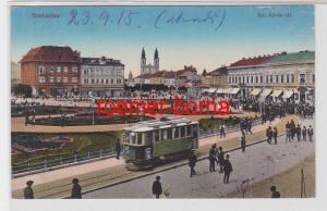 84878 Ak Szabadka (Subotica) Szt. István tér mit Tram 1915