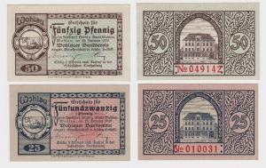 25 & 50 Banknoten Notgeld Wohlauer Bankverein 25.02.1920 (121369)