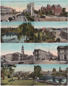 74705/8 Ak Adelaide Australien Ortsansichten 1914