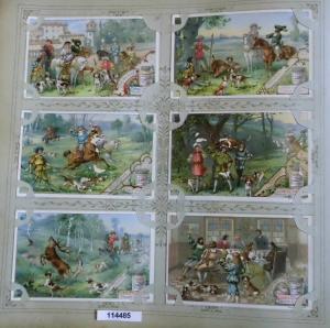 Liebigbilder Serie 401, Jagdbilder V, komplett 1898 (L114485)