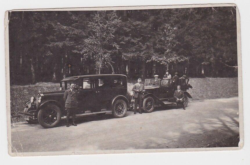 68829 Foto 2 alte PKW Limousine und Cabriolet um 1930 0