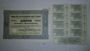 100 RM Aktie Meißner Ofen- und Porzellanfabrik (vorm.C.Teichert) 1934 (131283)