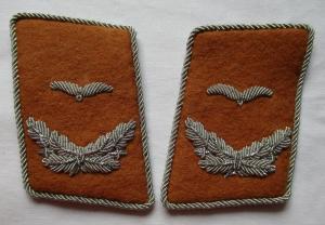 Seltenes Paar Kragenspiegel Leutnant Luftnachrichten 2. Weltkrieg (121658)