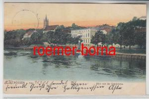 78995 Ak Crossen an der Oder Krosno Odrzańskie Blick von der Oderbrücke 1905