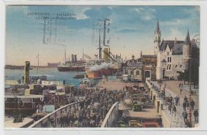 70464 Ak Antwerpen Belgien Hafen mit Anlegesteg 1924