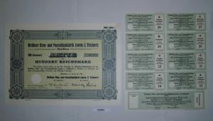 100 RM Aktie Meißner Ofen- und Porzellanfabrik (vorm.C.Teichert) 1934 (132364)