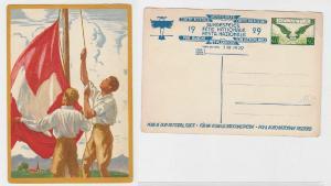90586 Flugpost Ganzsachen Karte Schweiz Bundesfeier 1929
