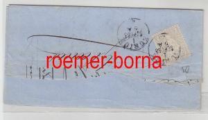 75842 alter Brief Schweiz 2 Rappen 1866 nach Glarus